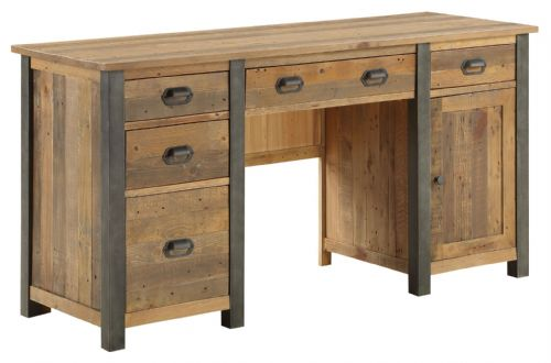Urban Elegance Twin Pedestal Desk